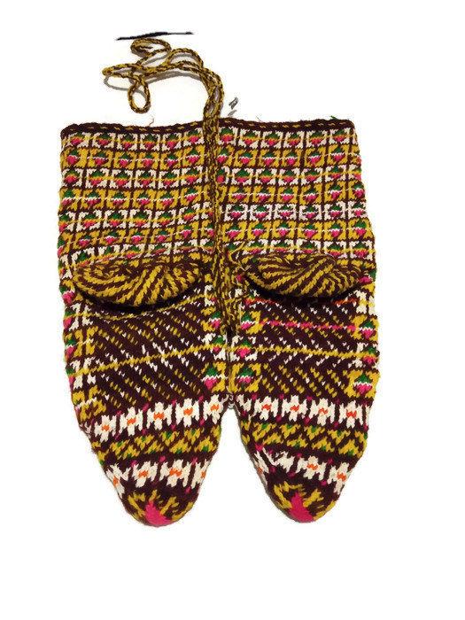 Hand knitted socks. Warm and cozy socks. Handmade. Unique socks. Rare. Vintage