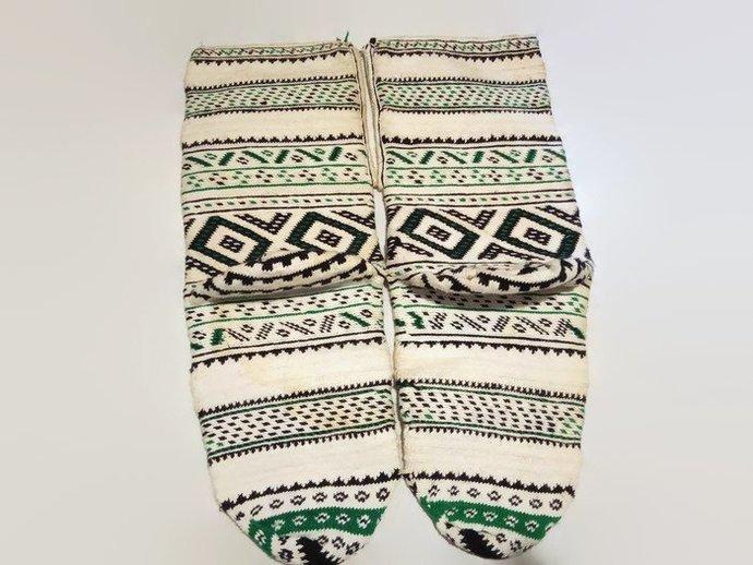 Hand knitted socks. Complicated pattern. Winter socks. Handmade socks. Unique
