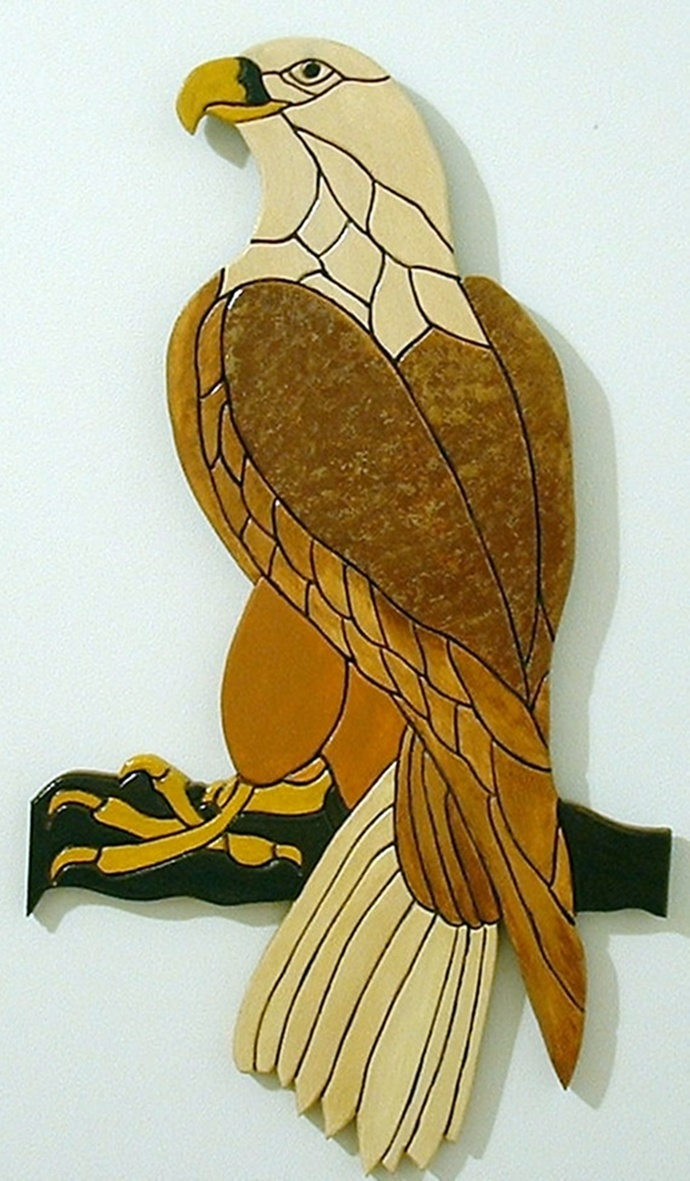 Bald Eagle Wood Wall Art Home Decor Hanging