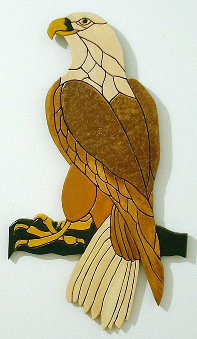 Bald Eagle, Wood Wall Art, Home Decor Wall Hanging