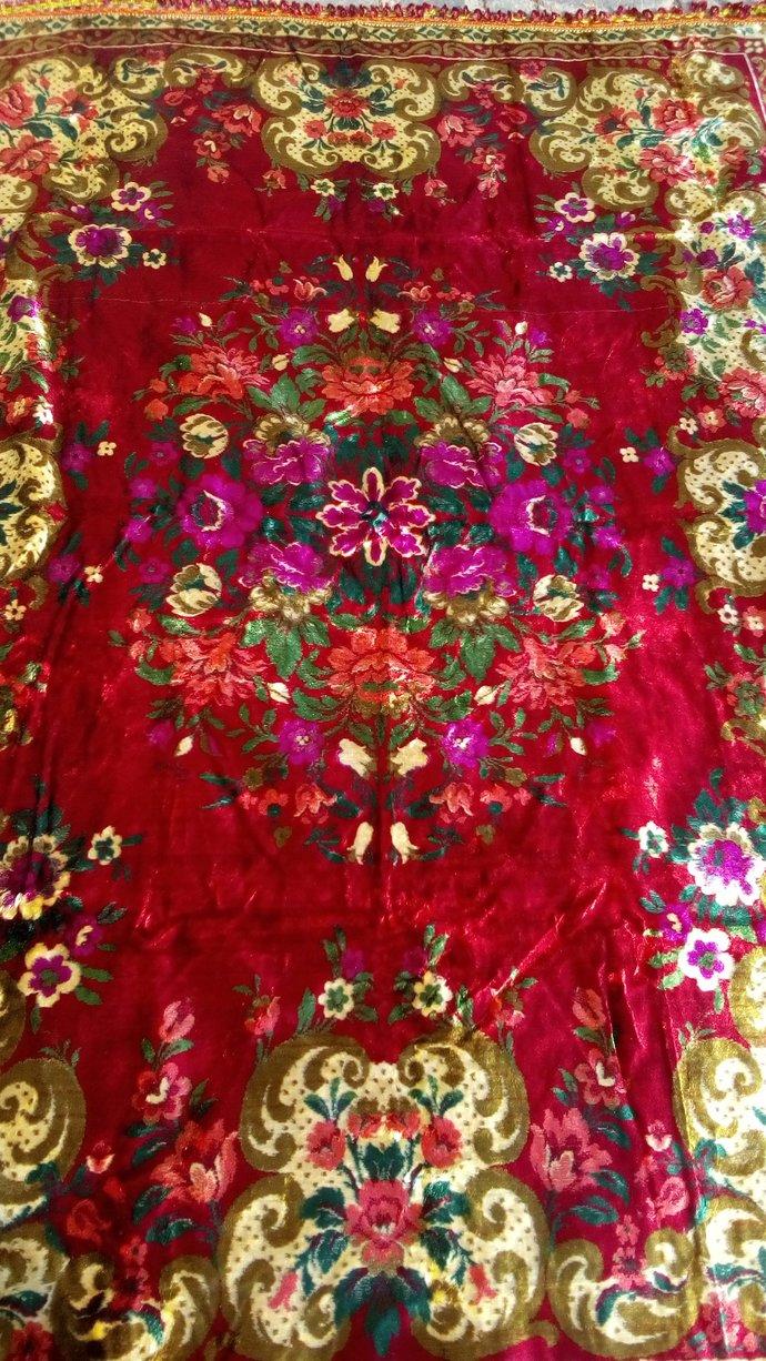 Velvet Bed cover. Bed throw. Velvet Tapestry. Velvet tablecloth. Italian velvet