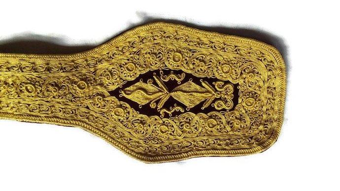 Ottoman Belt. Belt For Man. Ottoman Style. Unique Man Belt. Gold thread belt.