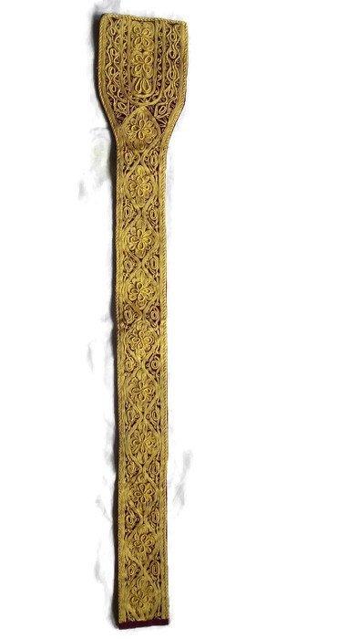 Gold Thread Belt For Men. Unique Gift For Men. Handmade Ottoman Belt. Vintage