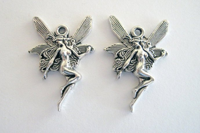 10 Fairy Charms Small Fairy Charms DIY Jewelry DIY Charms Art Nouveau Style