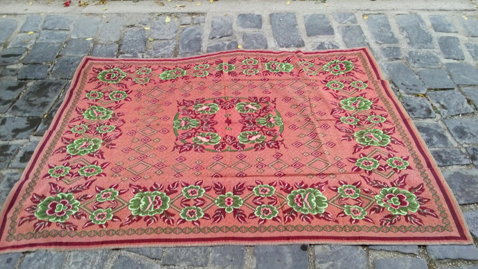 Bed cover red small. Bed throw. Wall decor. Red tapestry. wall hanging