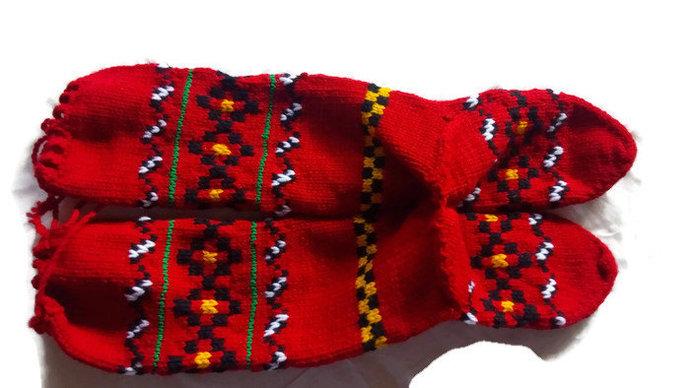 Hand Knitted Socks, Traditional Nomad Socks. Warm Socks. Winter Socks.