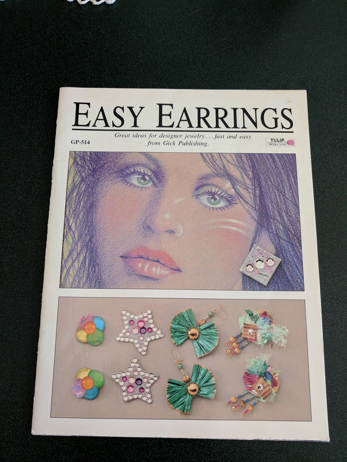 CLEARANCE SALE  Easy Earrings Book Great Condition Vintage 1989 DIY Jewelry Book