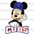 Mickey Mouse Chicago Cubs Headshot Iron On Transfer