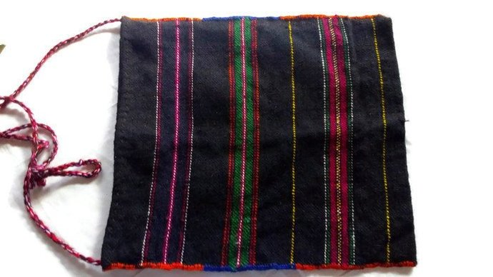 Bag Retro. Vintage Folk bag. Woven/ pure natural wool. Messenger bag / shoulder
