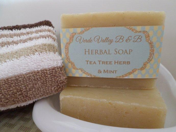 Tea Tree Herb & Mint Soap, Tea Tree Mint Soap, Tea Tree Soap Bar, Tea Tree Bar