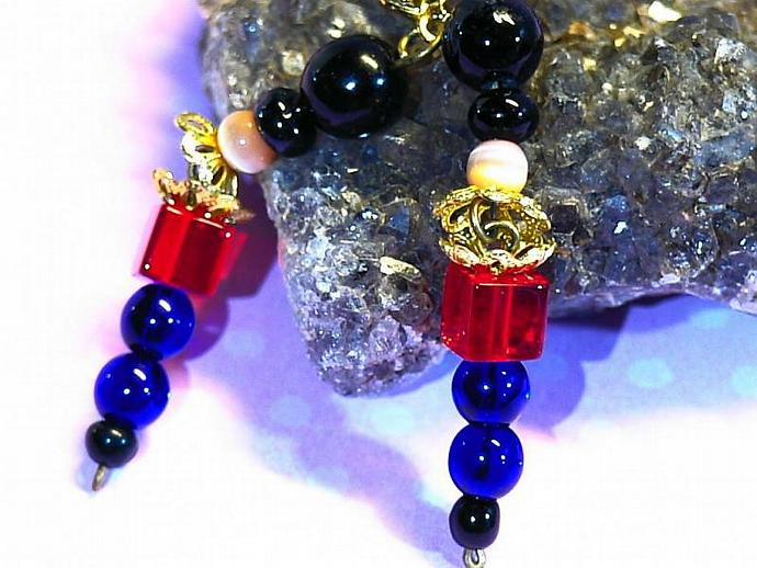 c820d8066 lever back gold plated bobbley head toy soldier earrings with czech glass