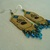 Native American Style Brick Stitched Bear Paw earrings in carmel,bronze,and dark