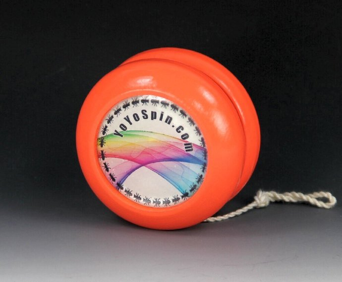Vintage Parker Pro Wood YoYo, Imperial Fixed Axle with Glow-In-The-Dark Features