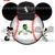 Chicago White Sox Mickey and Minnie Baseball Transfer