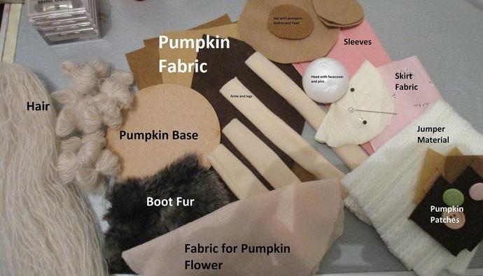 Doll Kit Sat On Pumpkin - Kit
