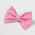 Custom Order for Nicole - Avery Bow Clip - Mini Hearts on Pink