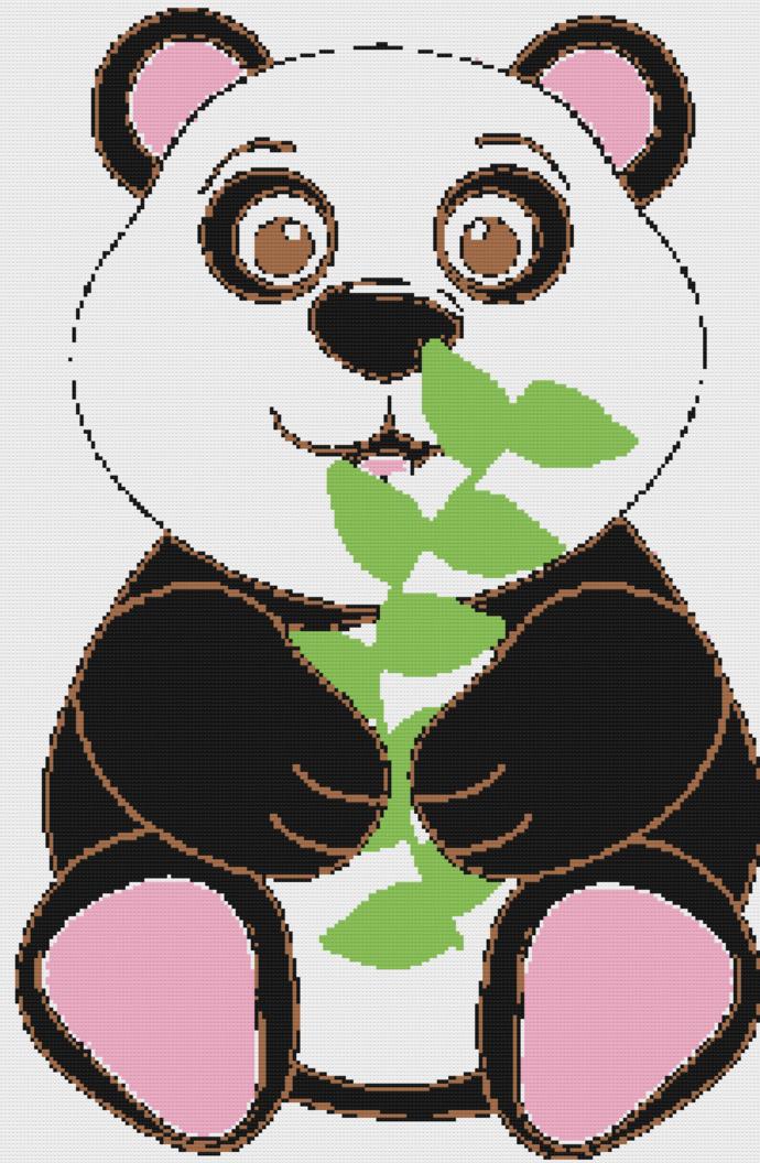 Panda crochet graph pattern