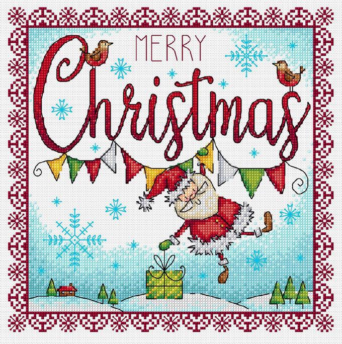 Dangling Santa Cross Stitch Pattern***LOOK***X***(INSTANT DOWNLOAD)***