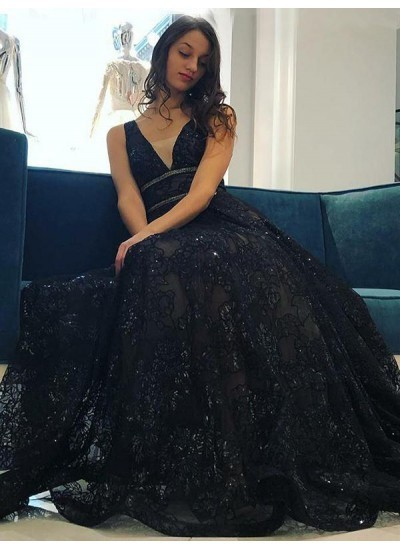Black Lace Dresses for Prom