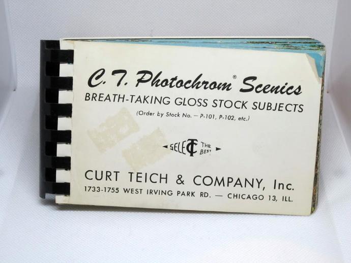 vintage postcards, scenic postcards, postcards advertisement tool, 1954 postcard