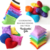 Rainbow Heart-shaped Bean Bags (set of 6) Handmade from Red, Pink, Lavender,