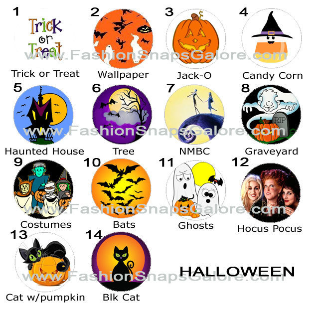 Halloween snap jewelry, gingersnap, snap charms, snap buttons, pumpkin, ghost,