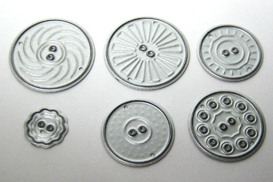 6pc Buttons Cutting Die Set