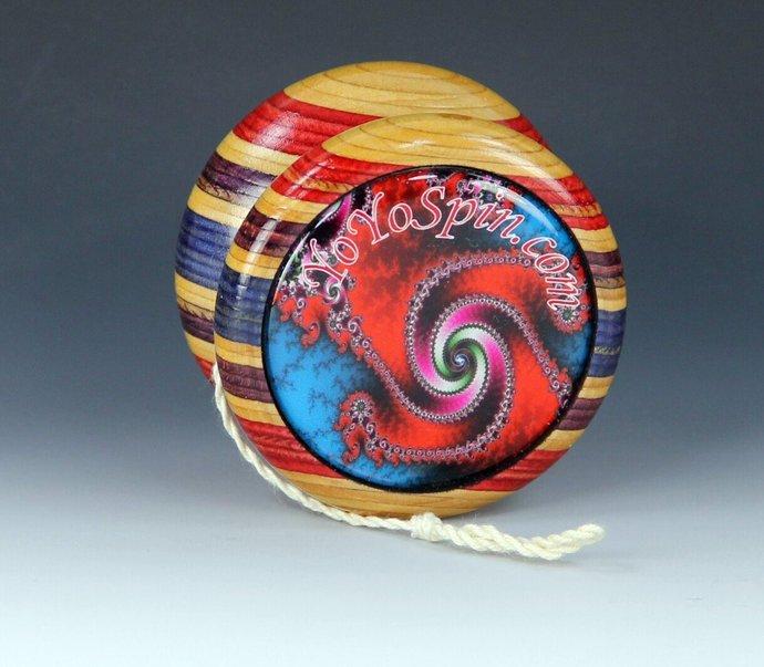 "Vintage Tom Kuhn/BC ""Lightning"" - Butterfly Mod Yo-Yo With Fractals !"