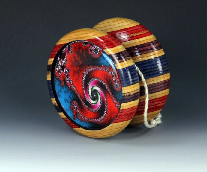 "Vintage Tom Kuhn/BC ""Lightning"" - Butterfly Mod Yo-Yo With Fractals !"
