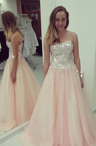 006485f487be Elegant A-Line Prom Dresses,Chiffon Prom Dresses,Strapless Prom Dresses ,Sequined