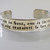 Harry Potter Cuff Bracelet - Happiness can be found, even in the darkest of