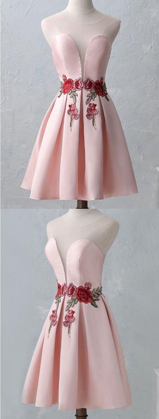 Charming Short Prom Dress, Pink Homecoming Dress, School Dance Graduation Dress