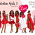 Watercolor fashion illustration clipart -  Valentine Girls 3 - Dark Skin