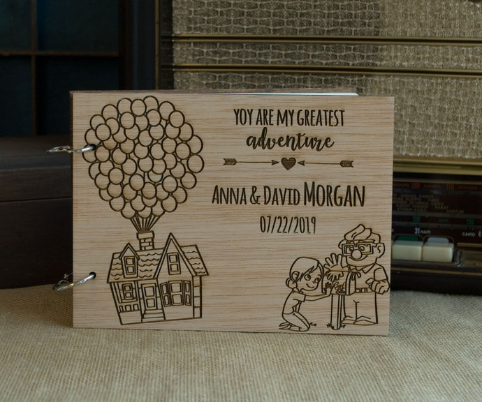 up guest book/ wood guest book / personalized guest book / wooden guest book /