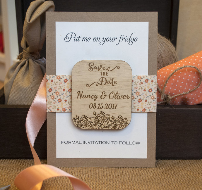 Save the Date | Wood Save the Date| Rustic Save the Date | Save the Date Magnet