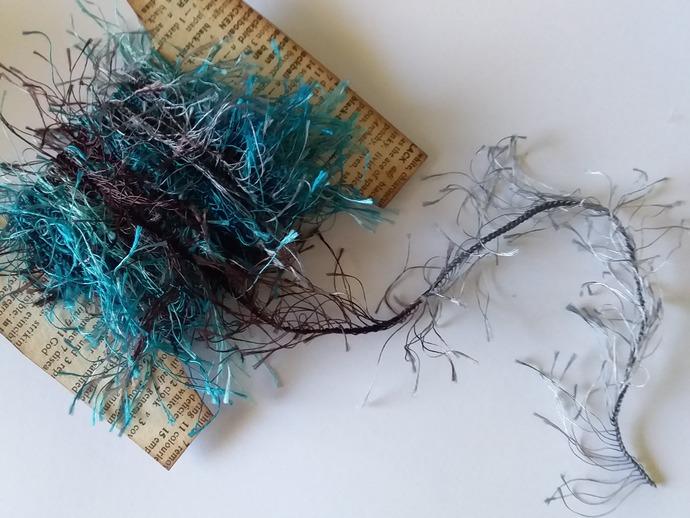 Thread-Teal/Brown Eyelash Trim