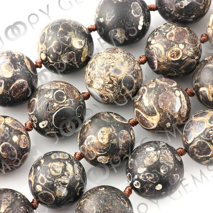 Turritella Agate Beads, matt finish, 19-20mm, LOOSE BEADS, 1 bead