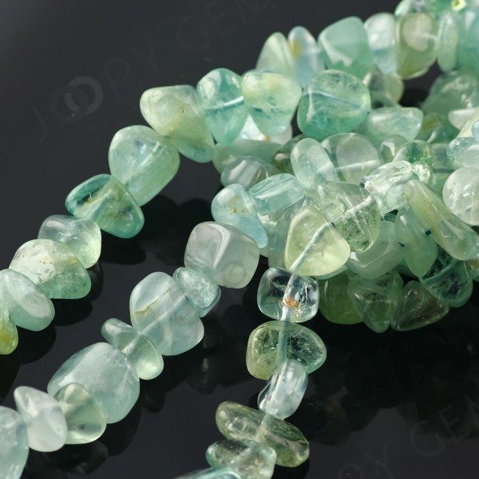 Aquamarine Nugget Beads, 5-10mm, AB grade, Gloss Finish, FULL STRAND, Aquamarine