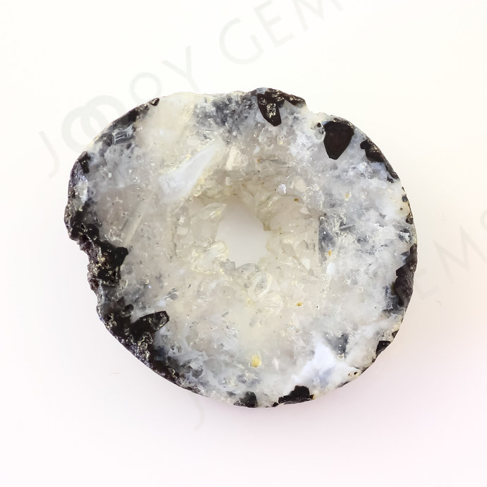 Druzy Crystal Freesize Oval Bead/Slice, 44.57 carats, 31.6x26.3x7.3mm SLDRZC26
