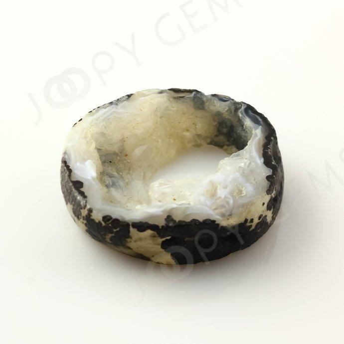 Druzy Crystal Freesize Oval Bead/Slice, 29 carats, 28.8x24.7x7.3mm SLDRZC11