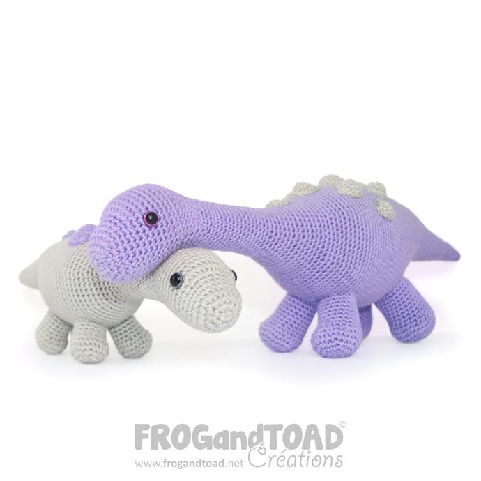 Amigurumi Crochet PDF Pattern - Dinosaur Magyarosaurus / Dinosaure Diplodocus