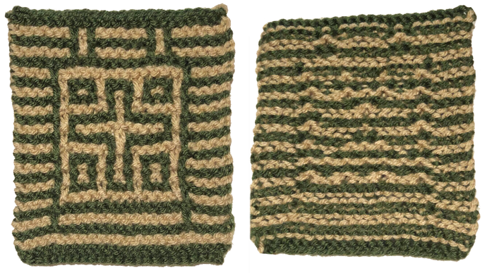 Free Mini Cross Sample for Mosaic Knit