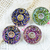 Czech Glass Button 22mm flower button for crafts or personalised jewelry and