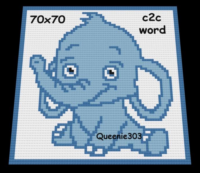 Elephant 70x70 c2c (CORNER to CORNER)