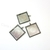 20 square antiqued silver bezels for 1 inch Square cabochons, Pendant Tray