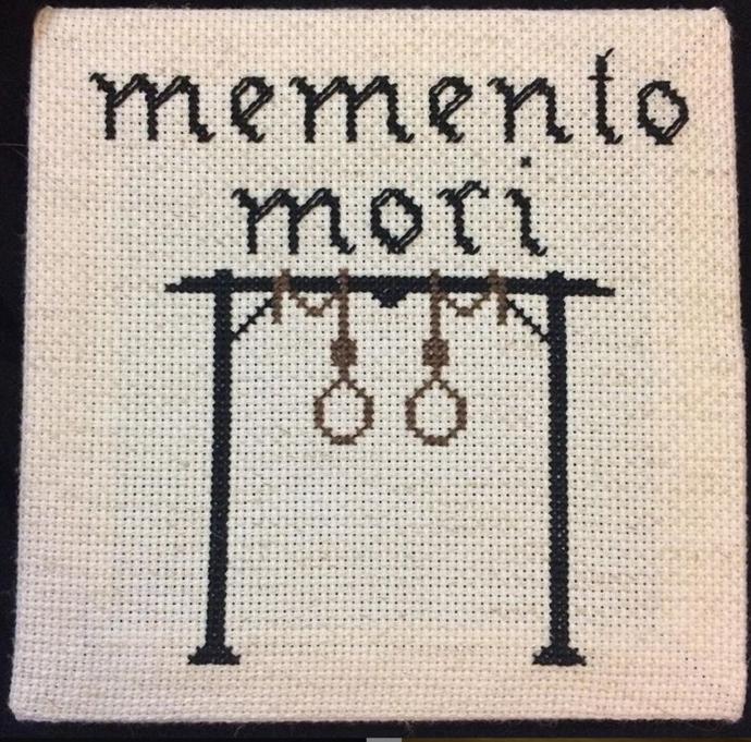 "PDF Cross Stitch Pattern ""Memento Mori"