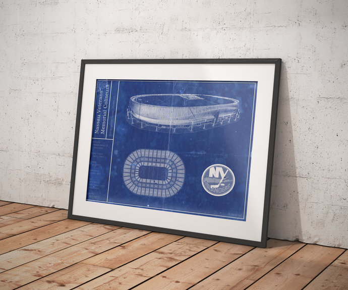 New York Islanders Nassau Veterans Memorial Coliseum Renovated blueprint. 5x7 to
