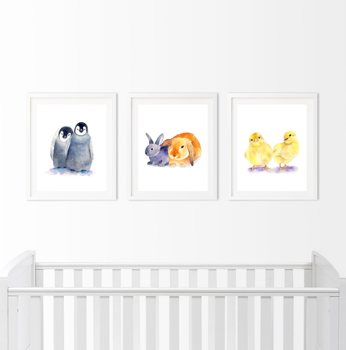 Twin Animals Set of 3