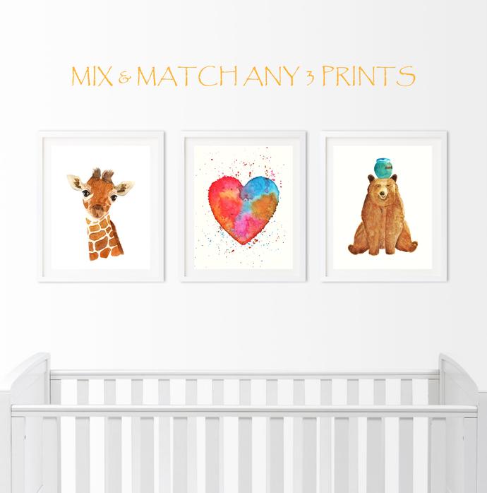 Mix & Match Set of 3 Prints