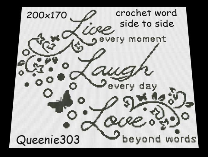 Live, Laugh, Love 200x170